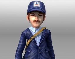 3D model Cartoon Postman