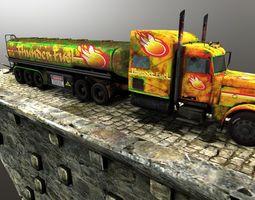 fuel truck low-poly 3d asset