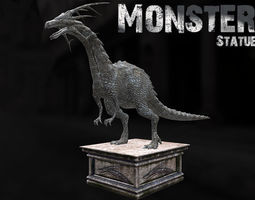 game-ready 3d asset monster statue