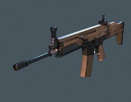 rifle scar m16 game-ready 3d model