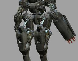 Robot Warrior 3D asset