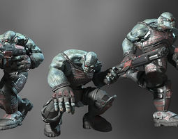 3d model sci-fi orc animated realtime