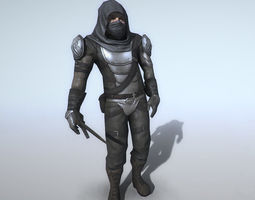 3D model animated Thief