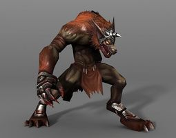 WereWolf 3D model animated