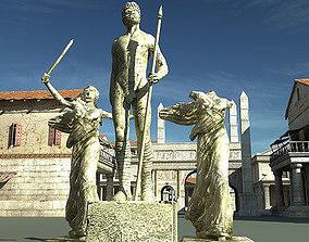 3D model Statues Pack