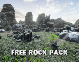 Rocks pack free 3D asset