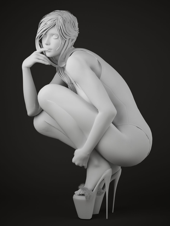 Sexy Girl 3D Model 3D Printable Stl - Cgtradercom-2966