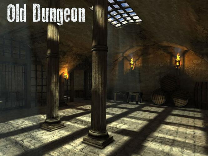 old dungeon 3d model low-poly obj mtl fbx c4d lwo lw lws dae X 1