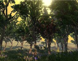 Northern Forrest Vegetation 3D model
