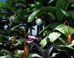 3D model Fantasy and Alien vegetation 2