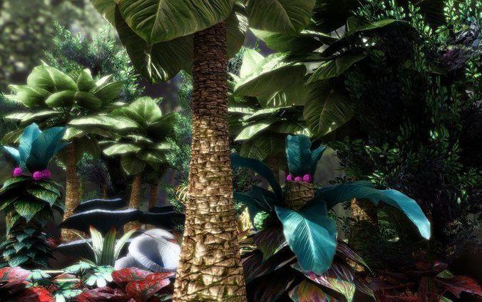 fantasy and alien vegetation 1 3d model low-poly obj fbx lwo lw lws dae X mtl 1