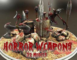 3D model Horror Weapons