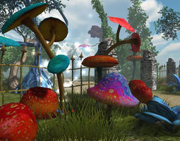 3D model low-poly Dreamland Vegetation