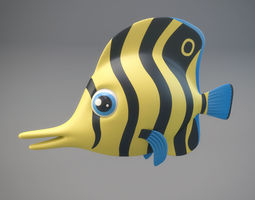 Cartoon Fish 3D asset