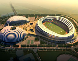3D Grand Stadium with Posh Exterior
