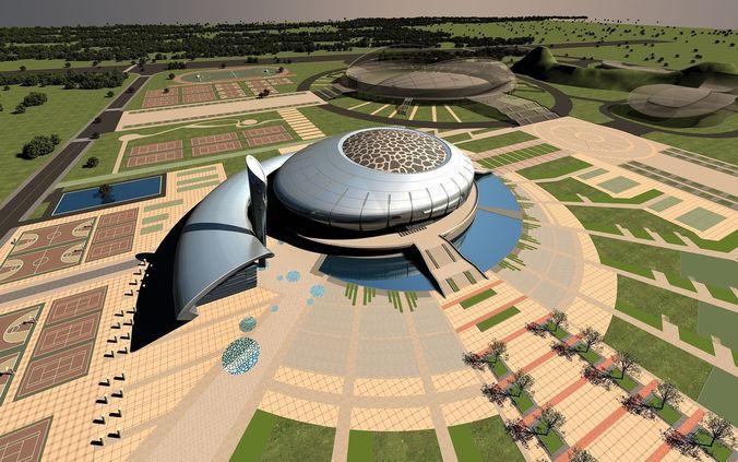 Grand Stadium with Aristocratic Exterior3D model