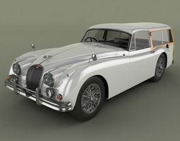 Jaguar XK150 Foxbat 3D Model