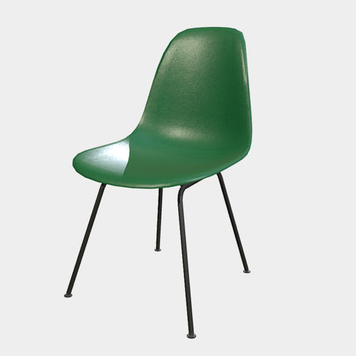 low poly pbr plastic chair 3d model fbx ma mb 1