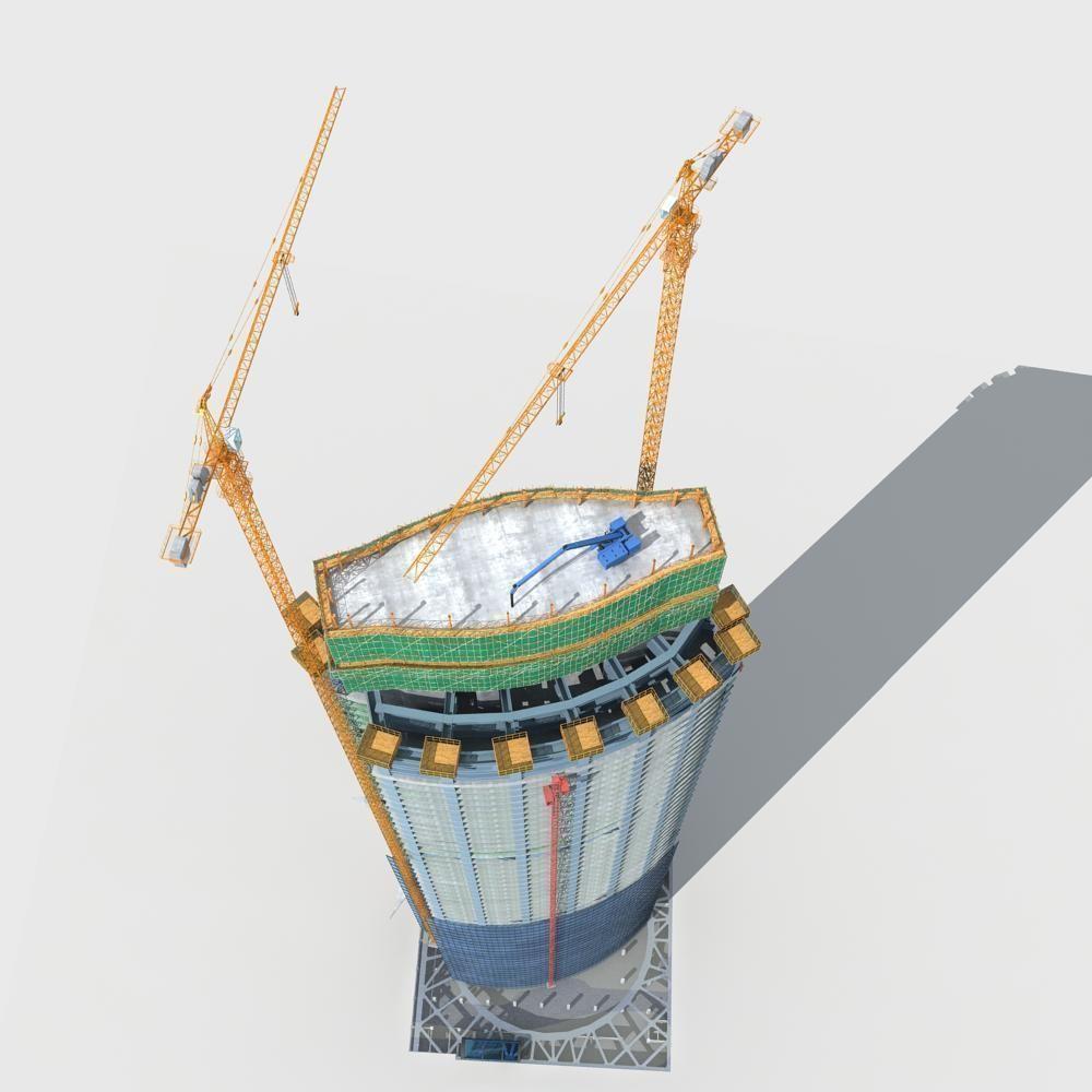 Building Construction Site 3d Model Max