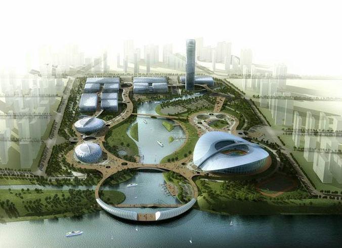 Aristocratic Stadium Exterior3D model