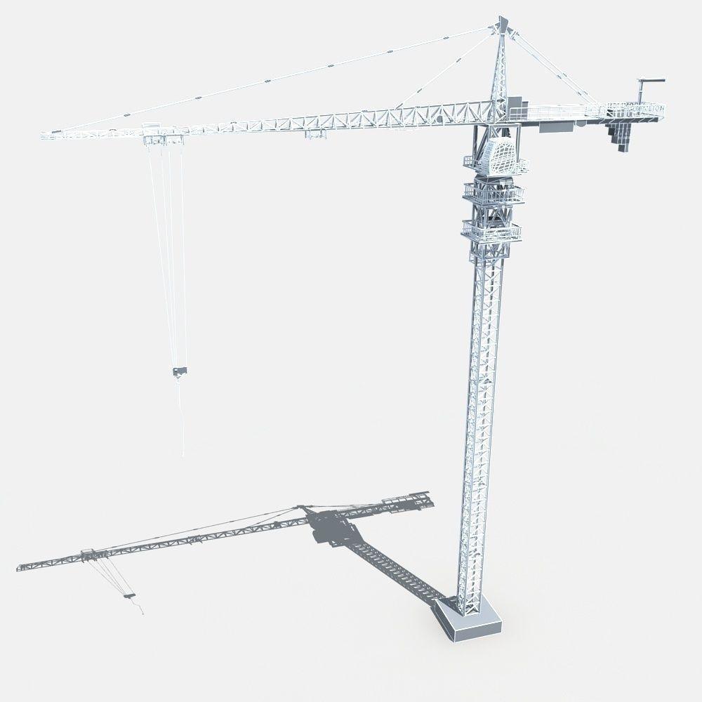 tower crane 3d model max obj fbx