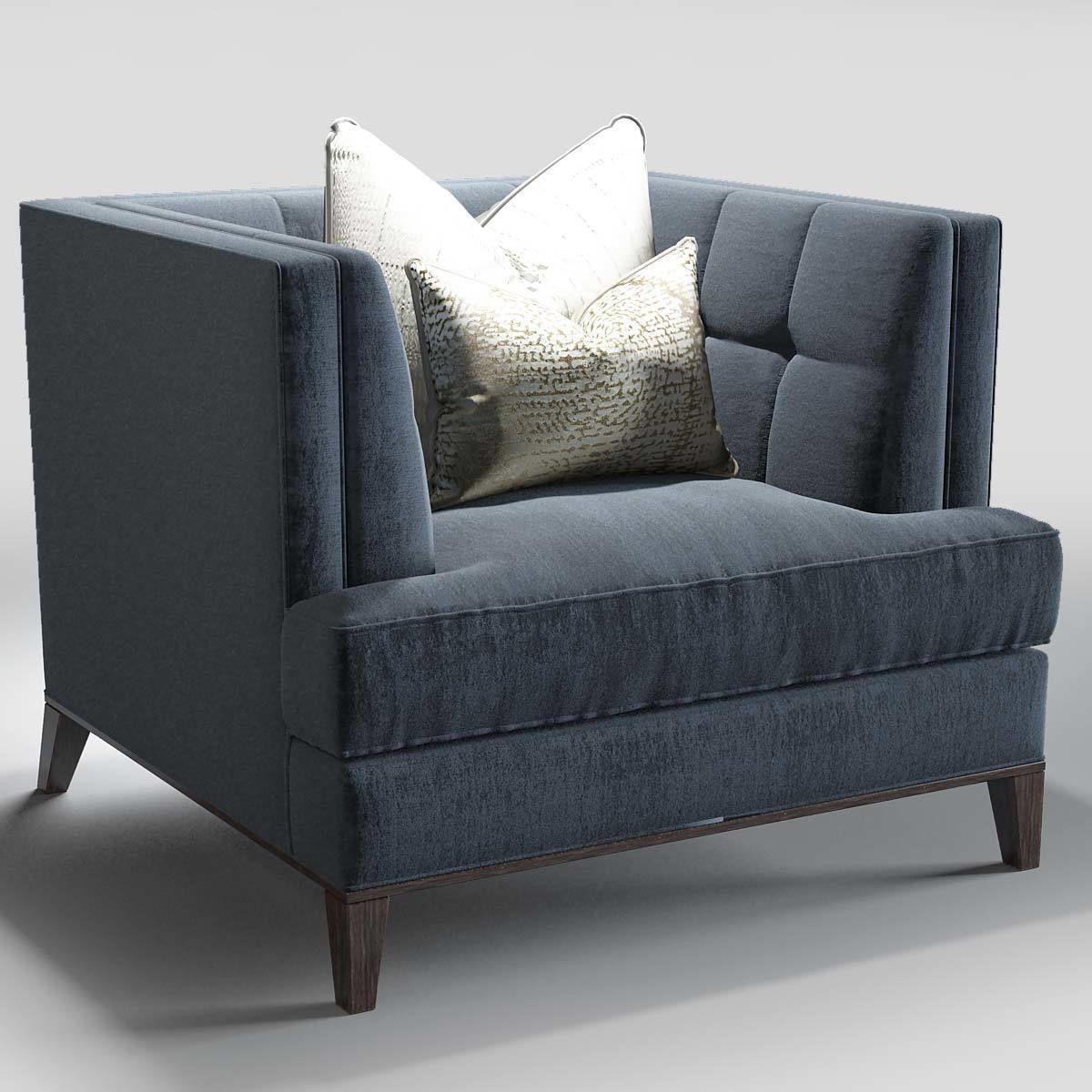 ... The Sofa And Chair Company Preston Sofa Hirst Table 3d Model Max Obj ...