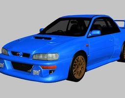 Subaru Impreza 22B STi 1998 3D model
