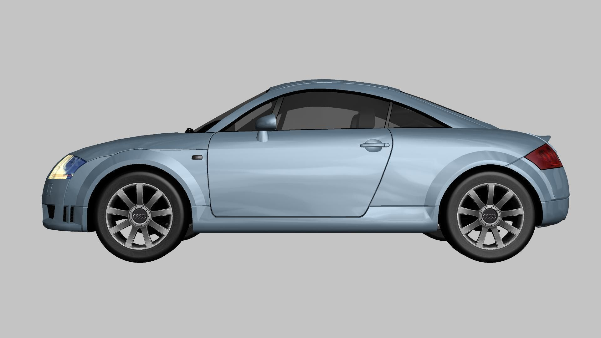 3d asset audi tt coupe quattro 2004 | cgtrader