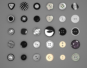 3D model Button Pack Black and White