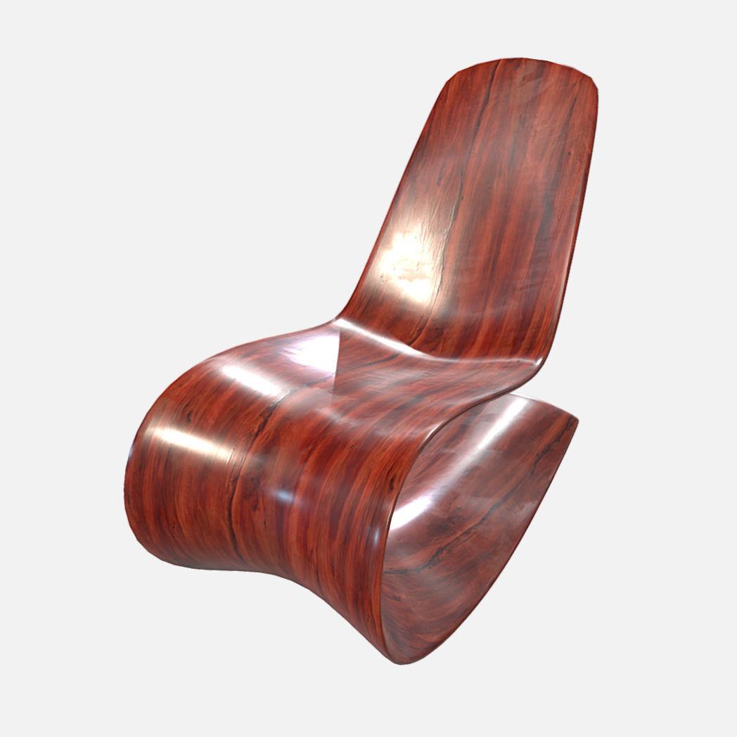 Stupendous Low Poly Pbr Modern Curved Chair 3D Model Inzonedesignstudio Interior Chair Design Inzonedesignstudiocom