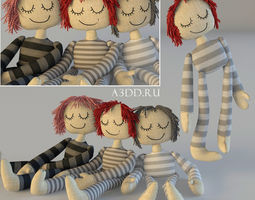 Textile doll Tilda toy 3D dollhouse