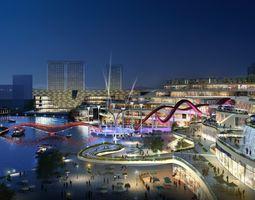 City shopping mall 003 3D model cityscape