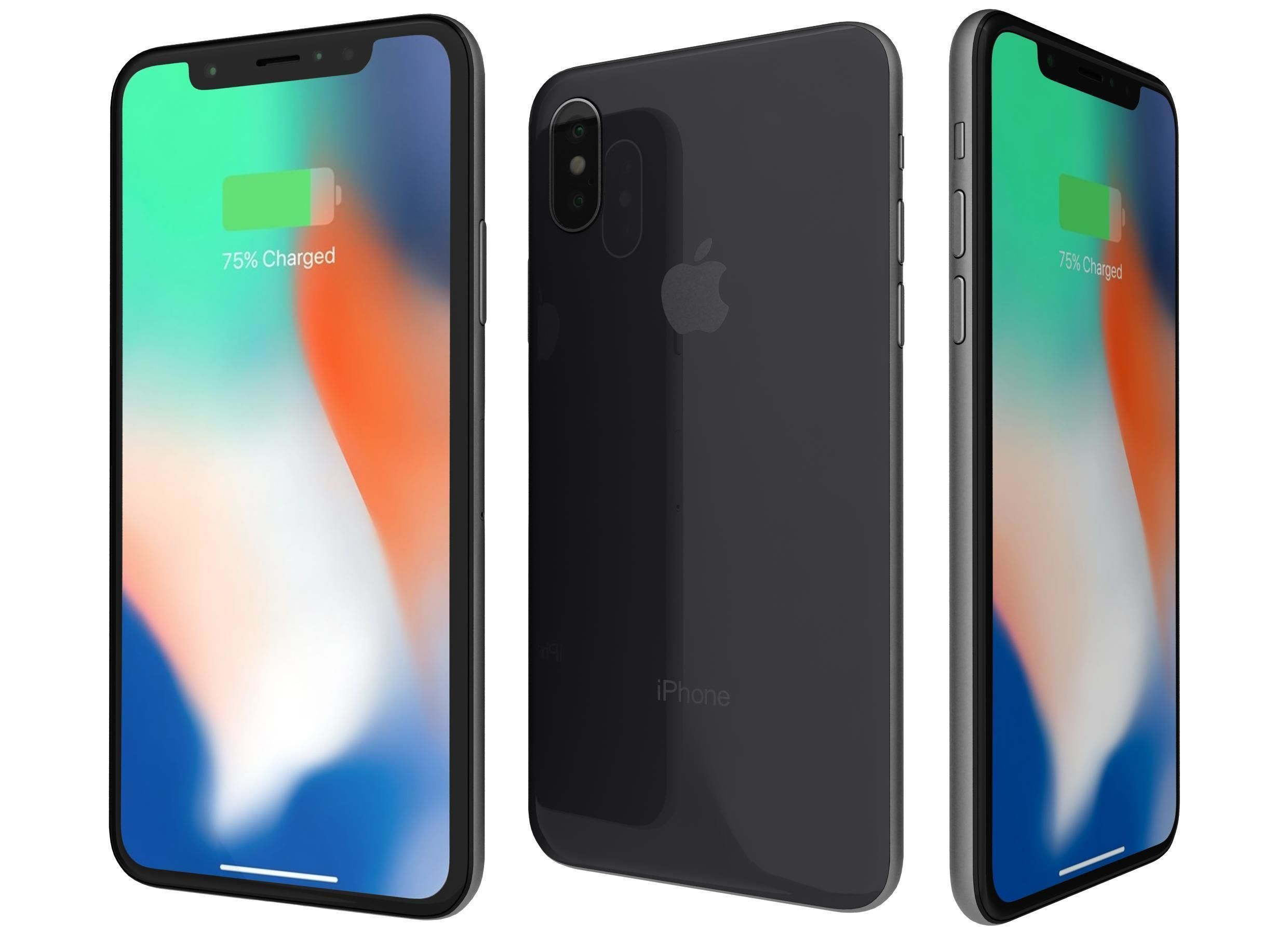 c7510bf0018b52 3D model Apple iPhone X Space Gray | CGTrader