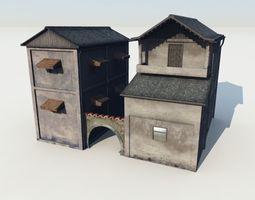 3D model Blocks village1