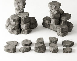 3D model Rock stone collection n6
