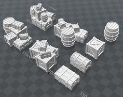 Crates and Barrels 3D printable model