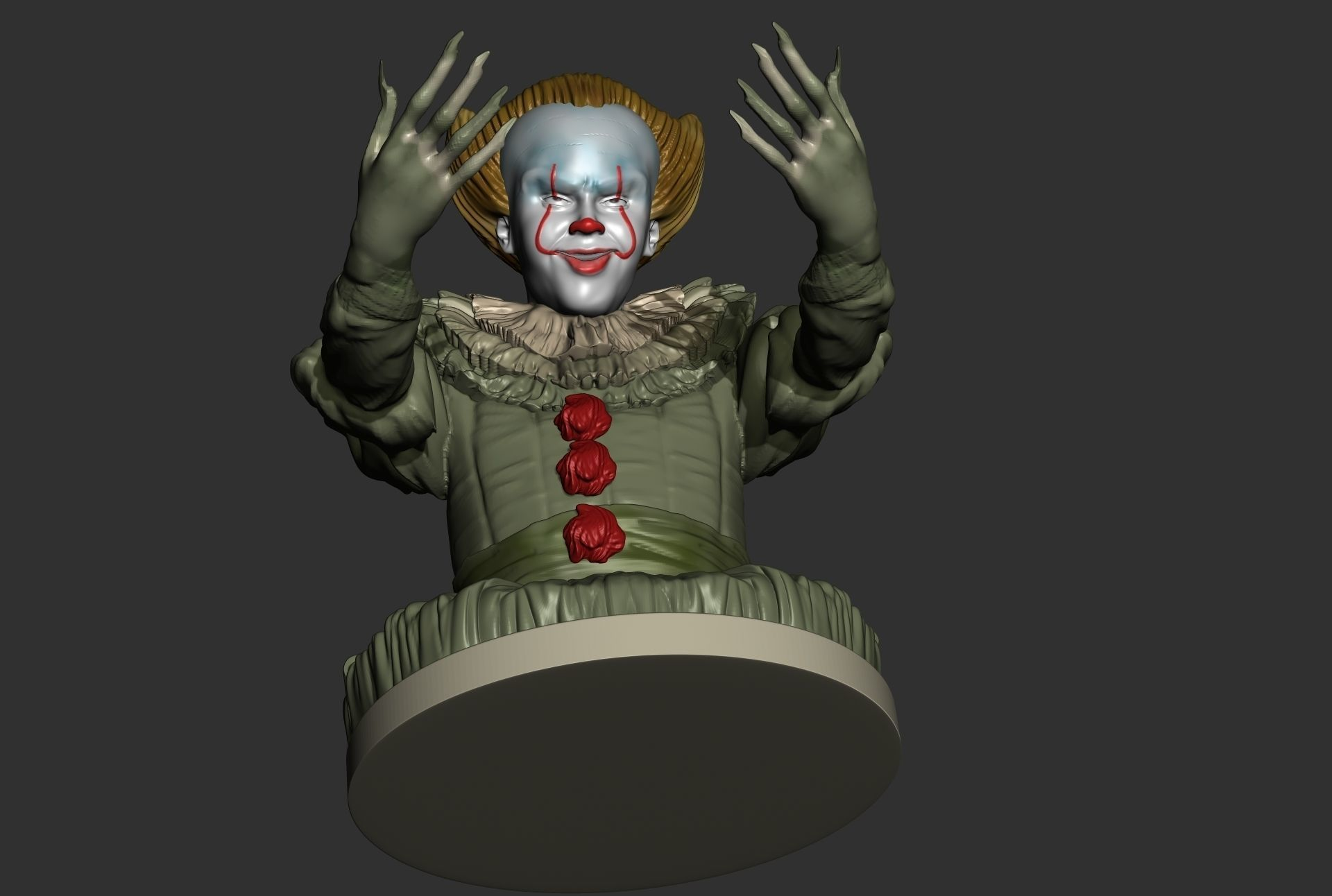 pennywise it 2017 halloween candy holder 3d printable