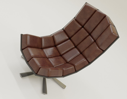3D Comfortable Leather Chair
