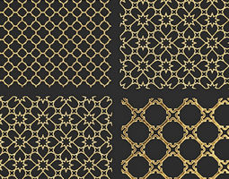 future 3D Collection of golden lattice