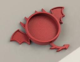 3D printable model Dragon Coaster
