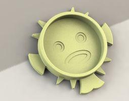 Globefish Coaster 3D printable model