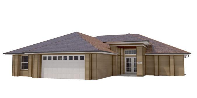 house-015 low poly 3d model max obj 3ds fbx dwg mtl 1