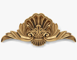 3D model ornament cartouches 02