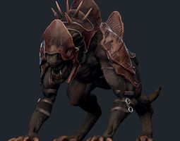 rigged 3d model realtime creature mount