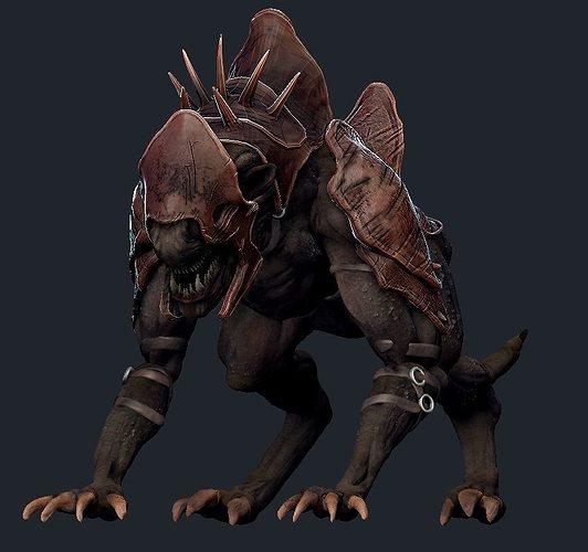 3d Model Creature Mount Vr Ar Low Poly Ztl