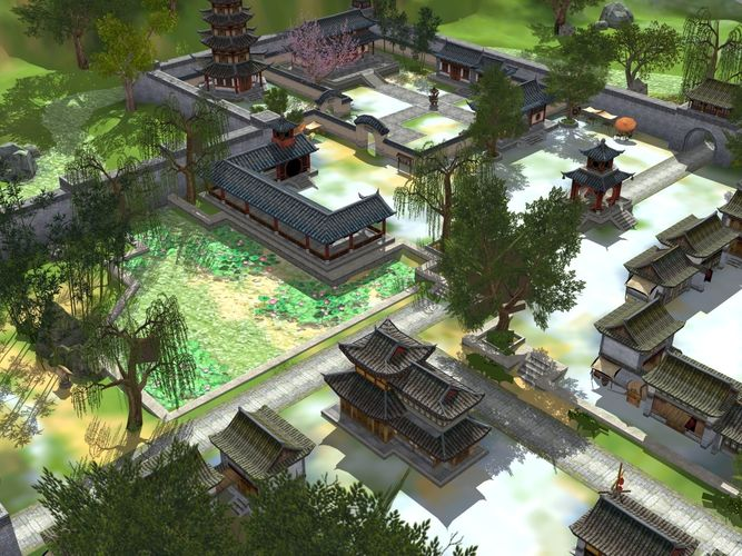 a very beautiful ancient chinese scene 3d model low-poly max obj mtl fbx ma mb 1
