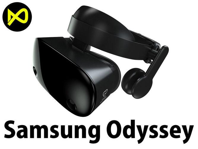 samsung odyssey windows mixed vr headset 3d model max obj 3ds fbx c4d lwo lw lws 1
