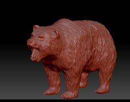 figurines Bear 3D model