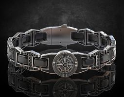 3D printable model Bracelet compass any length stylish 1