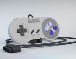 Snes Controller Classic game 3D model